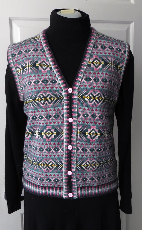 Fairisle Vest (Finished) – Creative Yarns